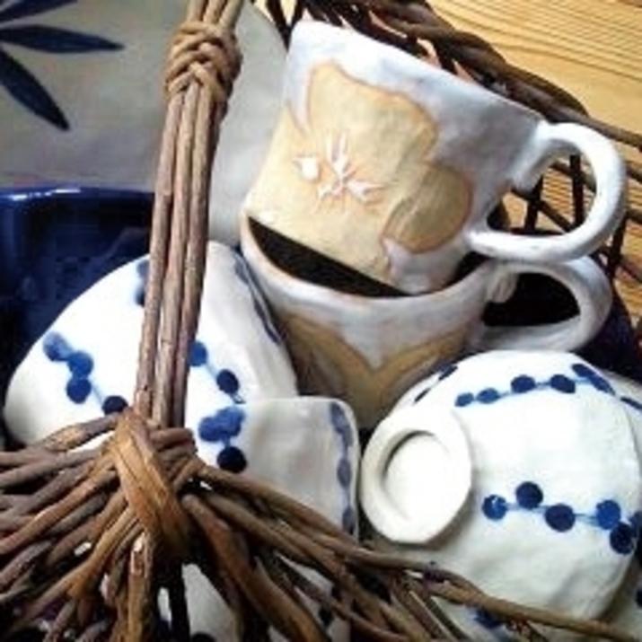 しおり窯 マグカップとお湯呑とお茶碗 展