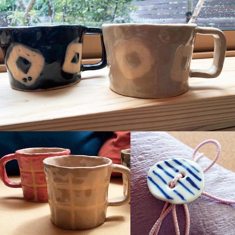 -しおり窯- マグカップとお湯呑展